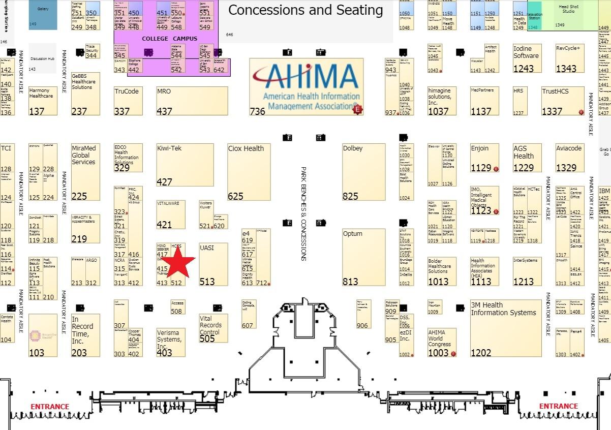 2018 AHIMA map star